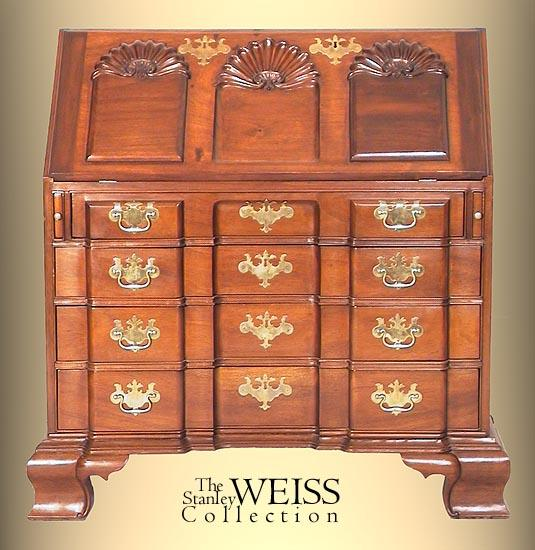 Mahogany Chippendale Style Slant-top Desk of Townsend-Goddard ...