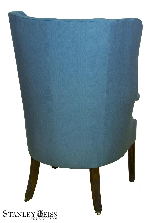 Picture of: A Mahogany Hepplewhite Barrel Back Wing Chair Philadelphia C 1780 Stanleyweiss Com