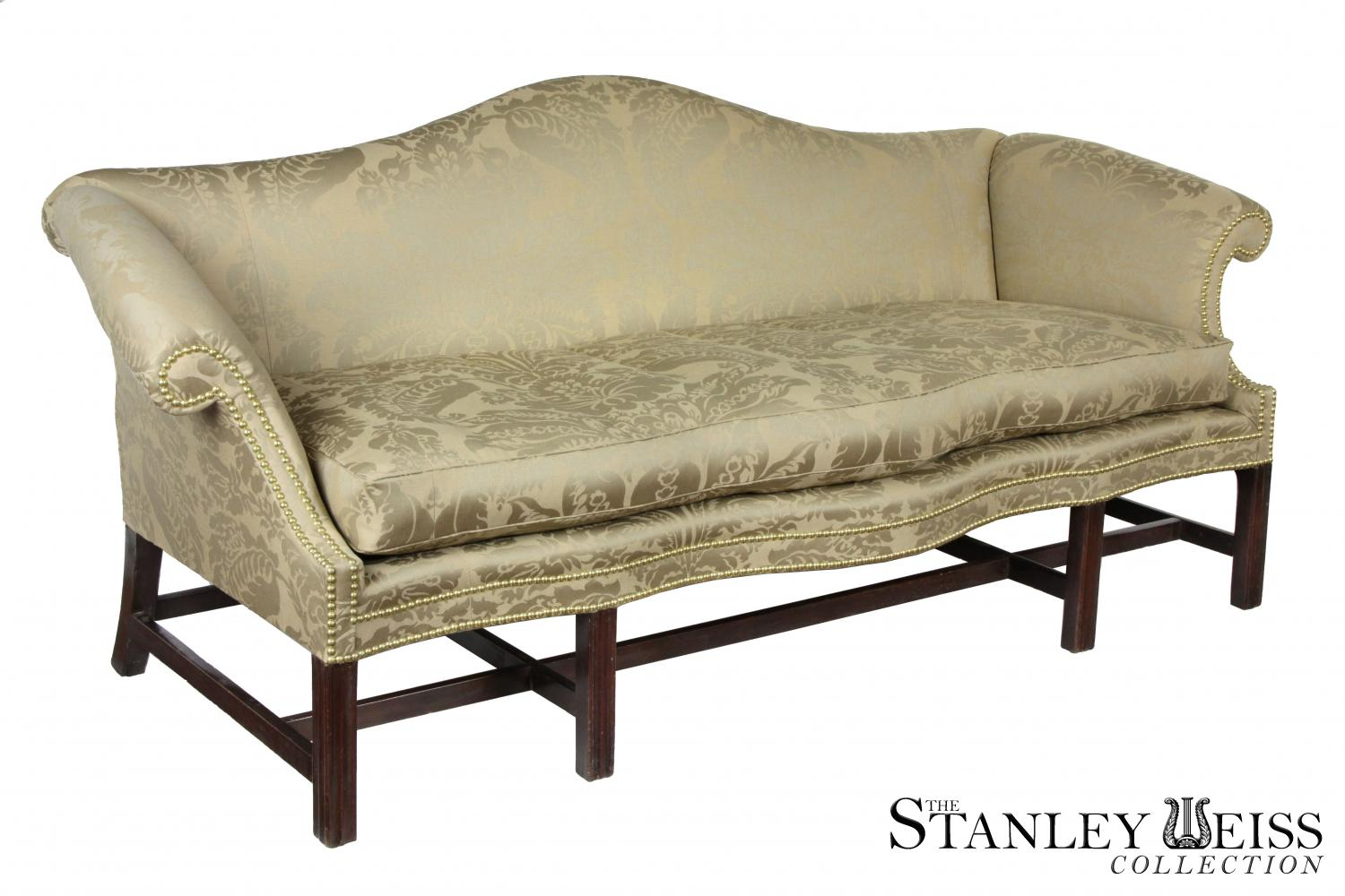 A Fine Chippendale / Federal Mahogany Camelback Sofa With A Rare Double  Serpentine Rail, Philadelphia, C.1780 1800
