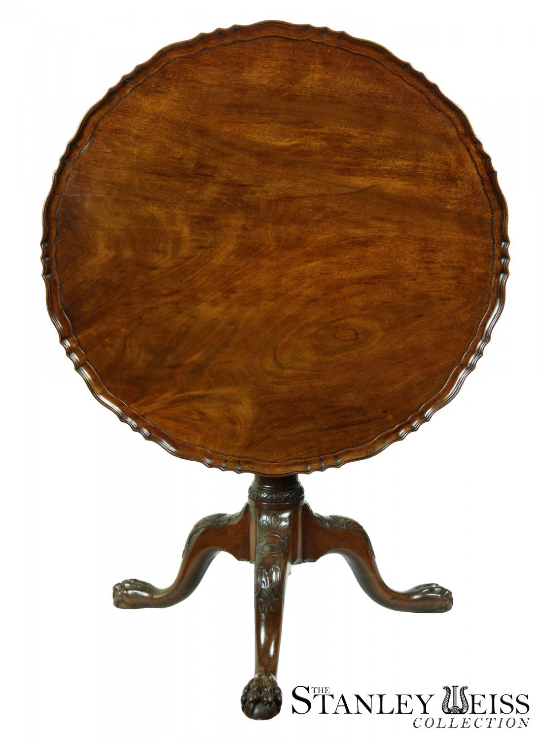 A Magnificent Chippendale Mahogany Tilt Top Table With Pie Crust England C 1780