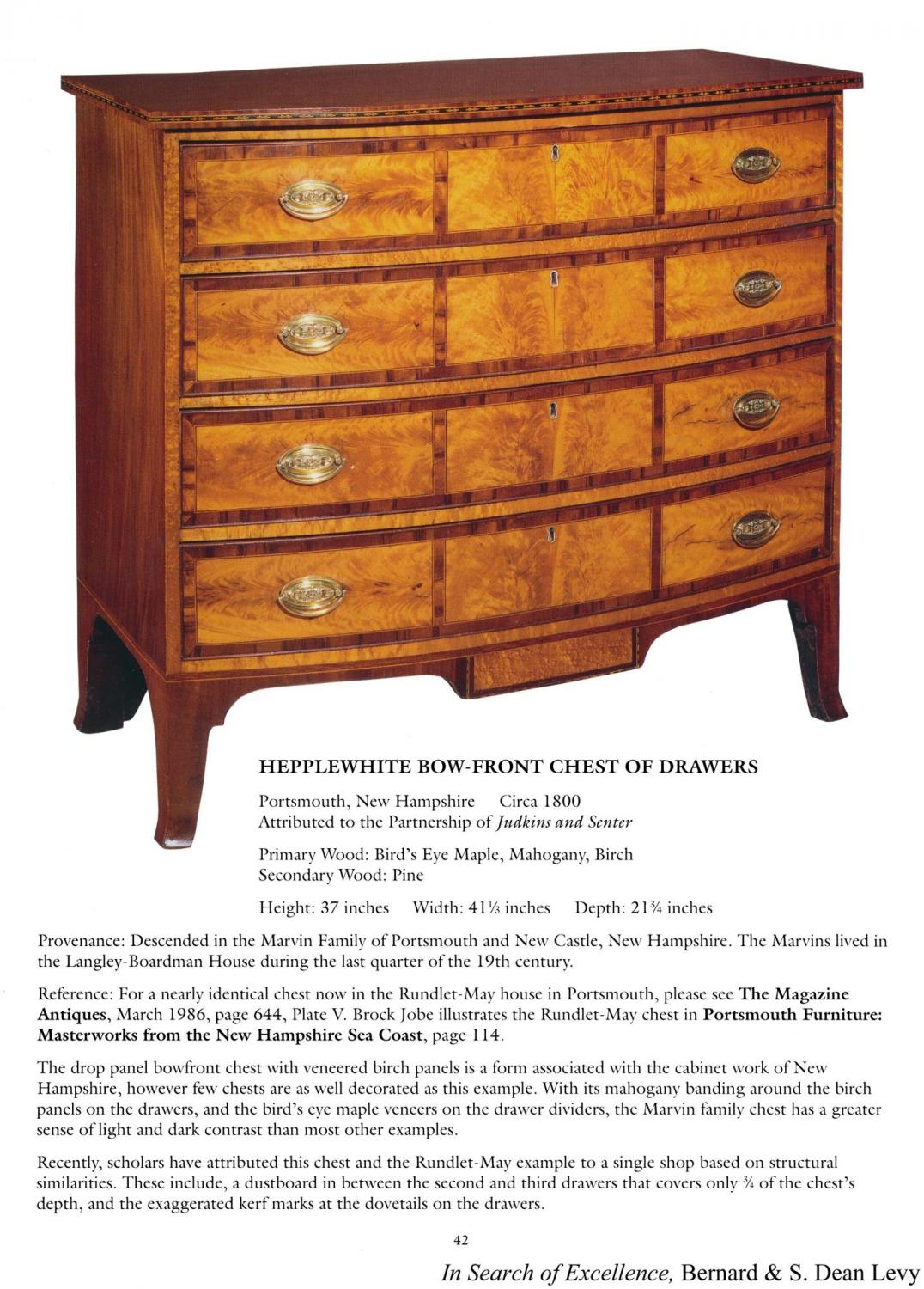 84f05bdd1bbb A Federal Hepplewhite Mahogany and Birch Inlaid Chest of Drawers ...