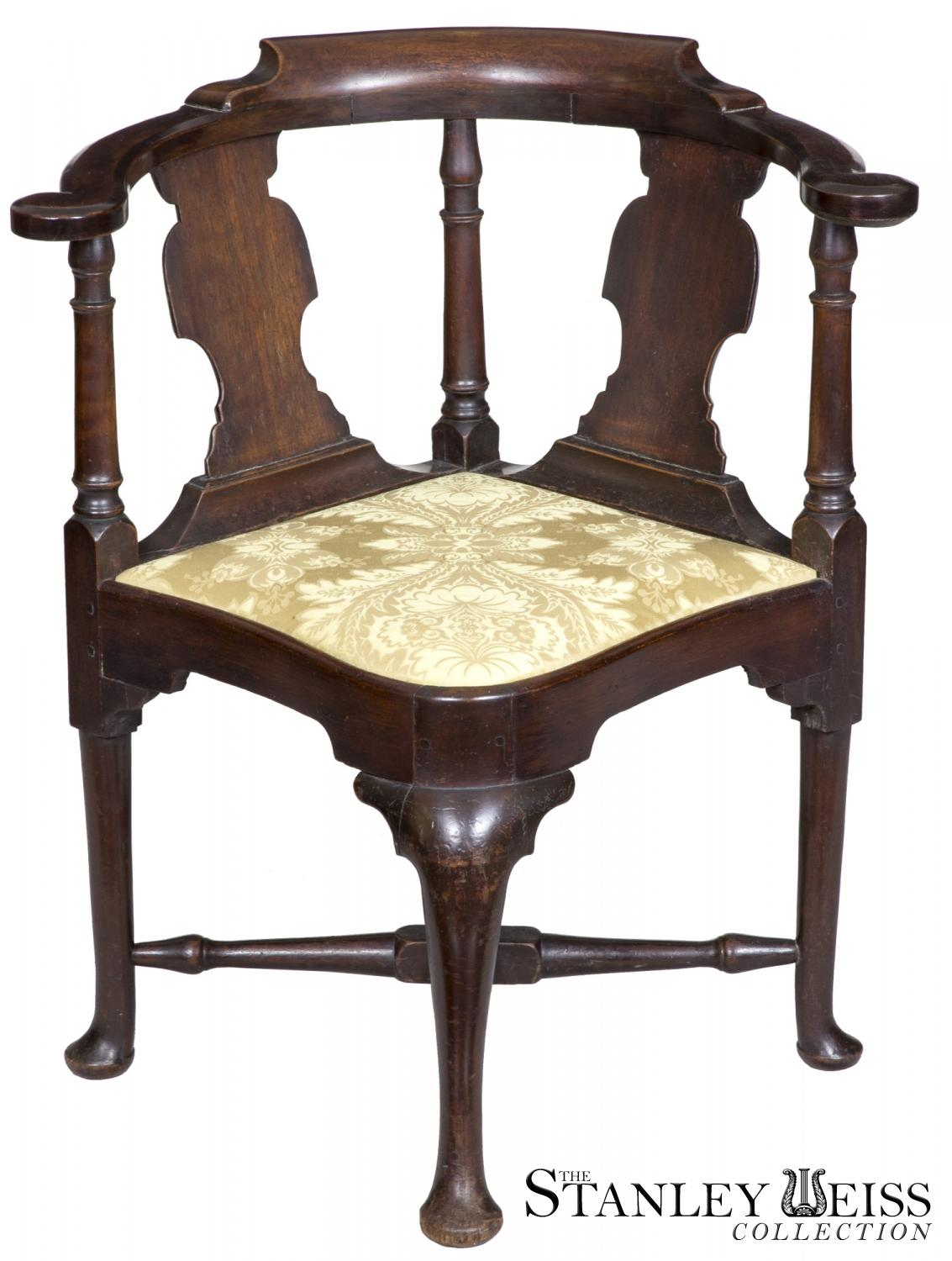 A Mahogany Queen Anne Corner Chair With Horseshoe Seat Boston, C.1770