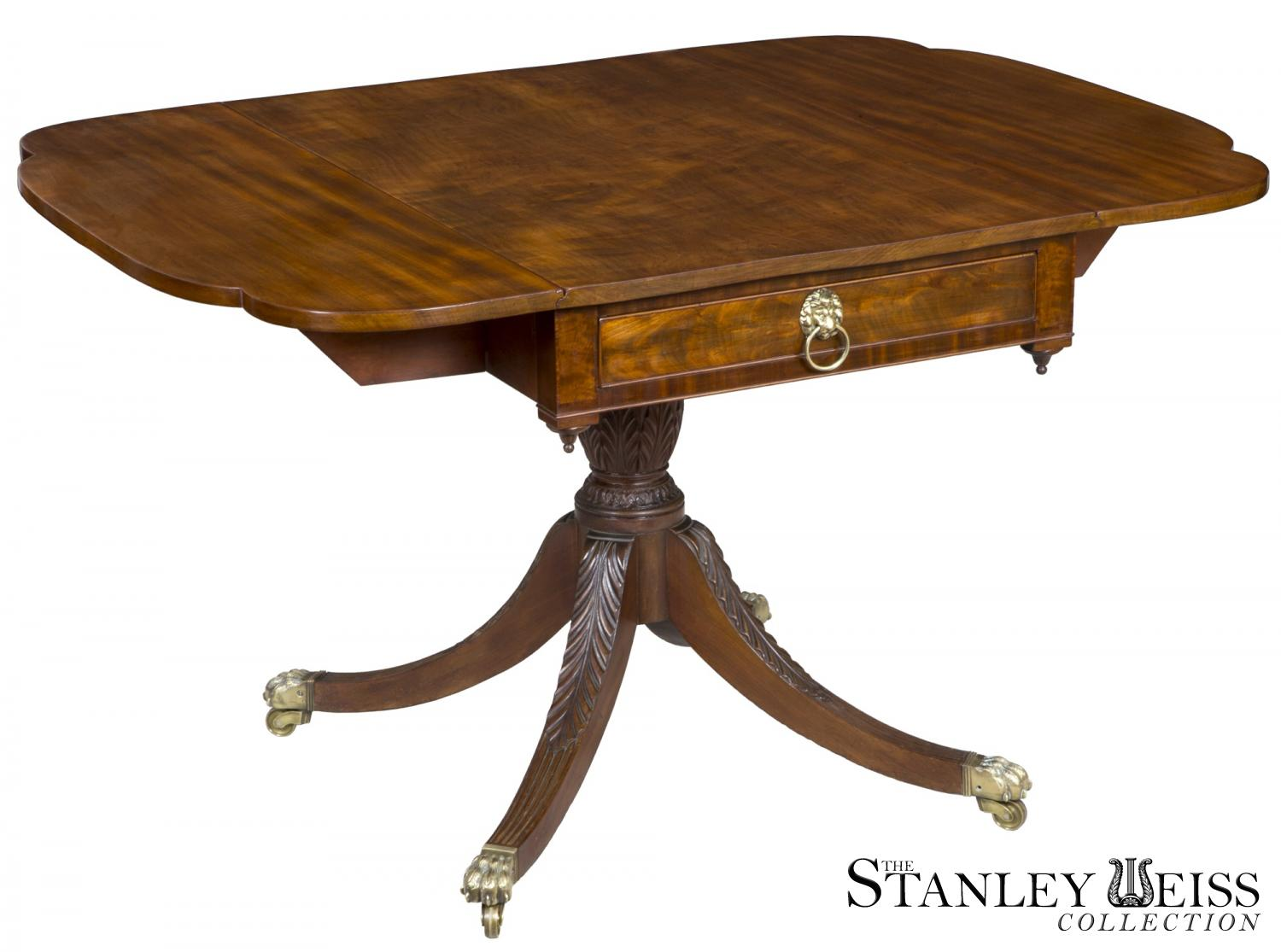 A Fine Mahogany Classical Drop Leaf Table, Duncan Phyfe Or Contemporary Of  Equal Rank, New York, C.1810 20