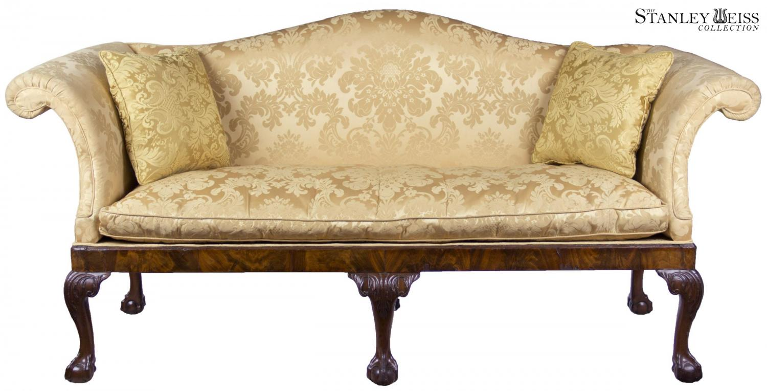 A George Ii Mahogany Chippendale Camelback Sofa With Claw And Ball Feet English Or Irish C 1770