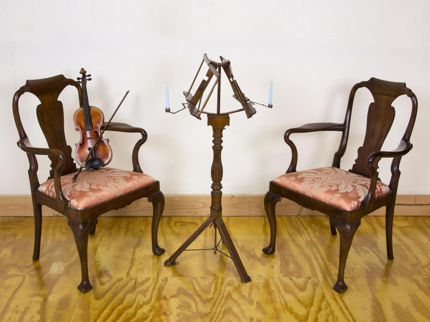 A Rare Classical Mahogany Metamorphic Duet Musical Stand, Probably British  Campaign Furniture, C.1840